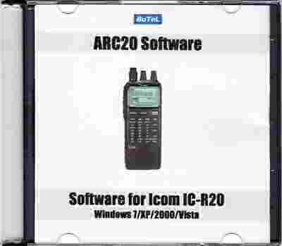 Butel scanner software Icom IC-R20