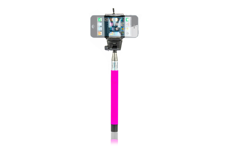 Bluetooth selfie stick roze